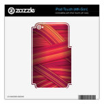 Red Abstract Stripes iPod Touch 4G Skin
