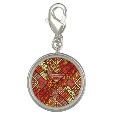 Red abstract tribal aztec pattern photo charm