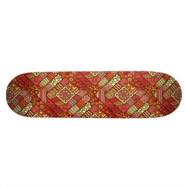 Aztec Themed Red abstract tribal aztec pattern skateboard