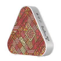 Red abstract tribal aztec pattern speaker