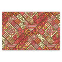 Red abstract tribal aztec pattern tissue paper