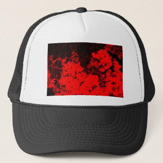 Red Abstract Trucker Hat