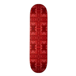 Red abstract wood cross skateboards