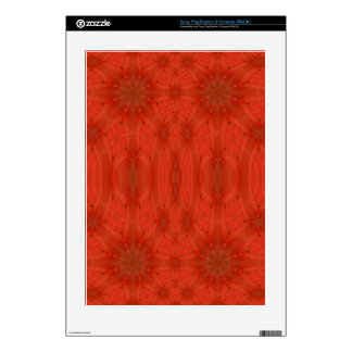 Red abstract wood decals for PS3