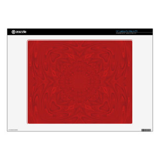 "Red abstract wood pattern 14"" laptop skin"
