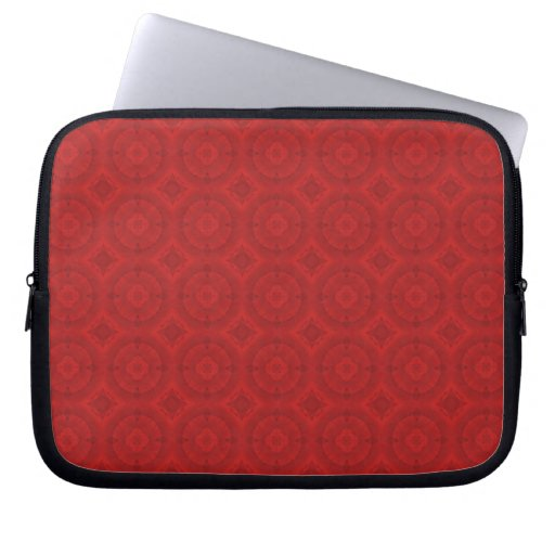 Red abstract wood pattern computer sleeve