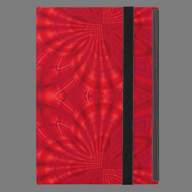 Red abstract wood Pattern Covers For iPad Mini