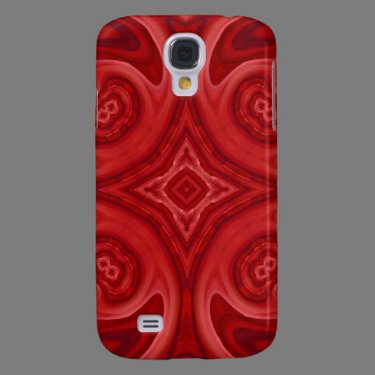 Red abstract wood pattern galaxy s4 case