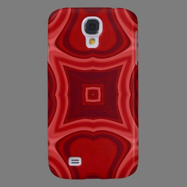 Red abstract wood pattern galaxy s4 cases