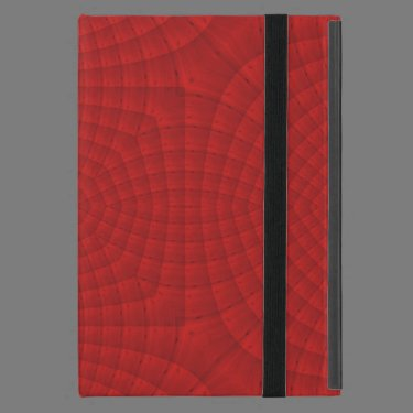Red abstract wood pattern iPad mini cases