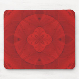 Red abstract wood pattern mouse pad