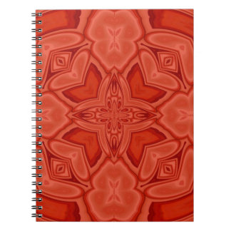 Red abstract wood pattern notebooks
