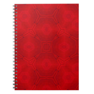 Red abstract wood Pattern Note Book