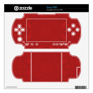 Red abstract wood pattern skins for sony PSP