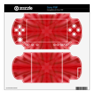 Red abstract wood Pattern Sony PSP Skin