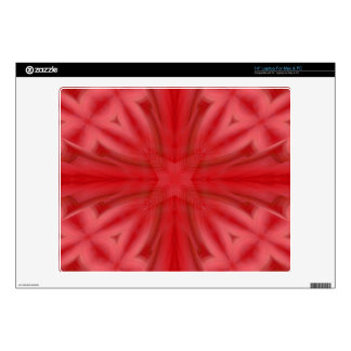 "Red abstract wood Pattern Skin For 14"" Laptop"