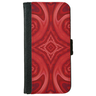 Red abstract wood pattern wallet phone case for iPhone 6/6s