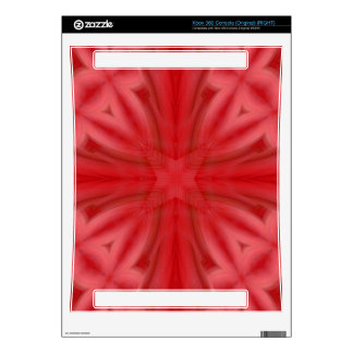 Red abstract wood Pattern Xbox 360 Decal