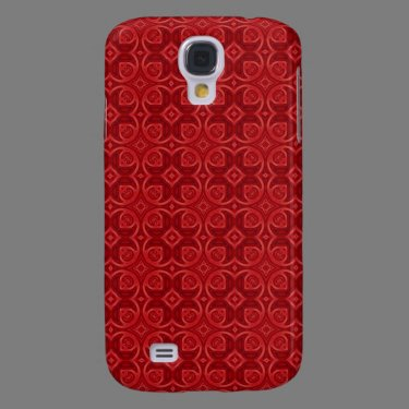 Red abstract wood pern galaxy s4 cases
