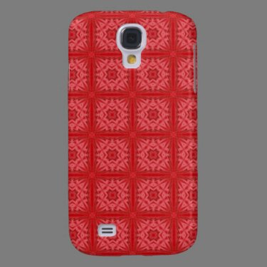 Red abstract wood Pern Samsung Galaxy S4 Covers