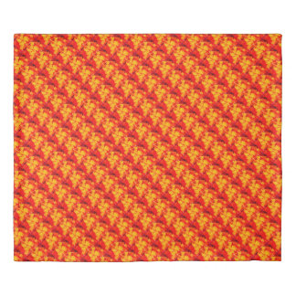 Red abstraction duvet cover