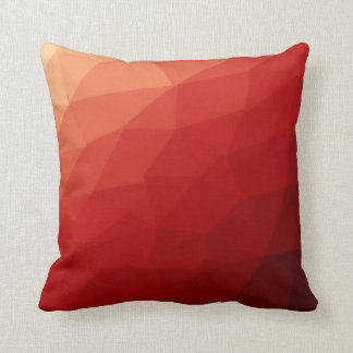 Red Abtract Poly Pattern Throw Pillow