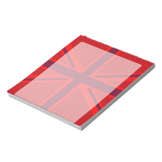 Red Accent Union Jack Design Notepad