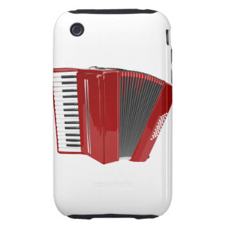 Red Accordion iPhone 3 Tough Case
