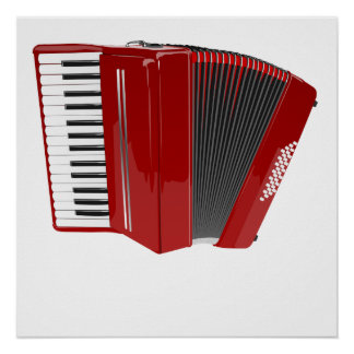Red Accordion Poster