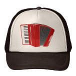 RED ACCORDION Trucker Hat