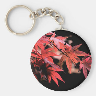 Red Acer Keyring Basic Round Button Keychain