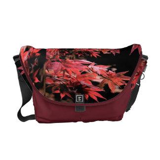 Red Acer Quilt Rickshaw Messenger Bag