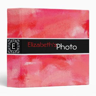 Red Acrylic Abstract Album Photo Binder