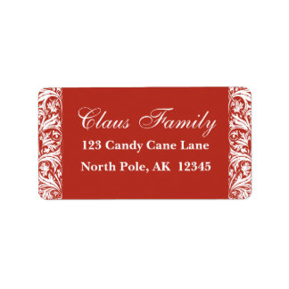Red Address Labels Personalize Customize