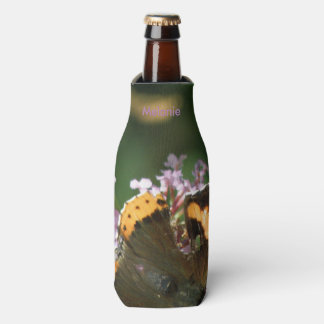 REd Admiral Butterfly and Buddleia Bottle Cooler