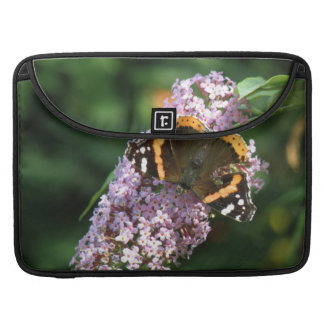 Red Admiral Butterfly and Buddleia MacBook Sleeve