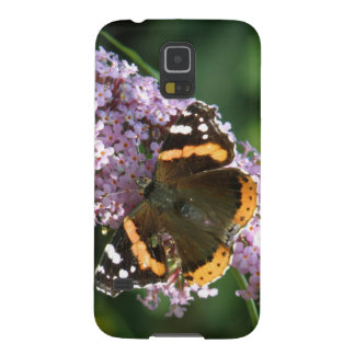 Red Admiral Butterfly and Buddleia Samsung Case Galaxy S5 Cover
