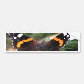 Red Admiral Butterfly Bumper Sticker