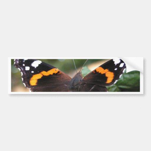 Red Admiral Butterfly Bumper Sticker Car Bumper Sticker