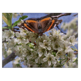 Red Admiral Butterfly Cutting Board