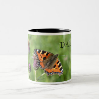 Red Admiral Butterfly Dad Mug