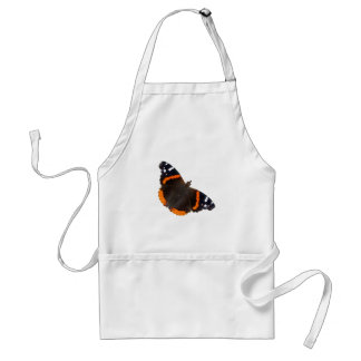 Red Admiral butterfly design apron