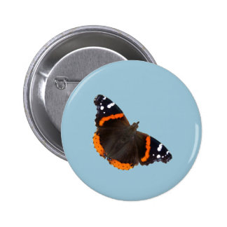 Red Admiral butterfly design buttons and badges