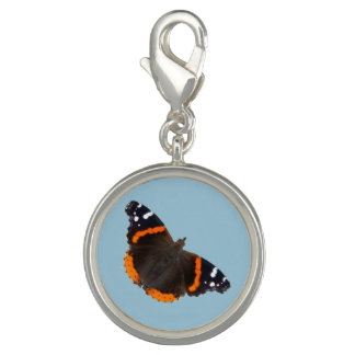 Red Admiral butterfly design charms