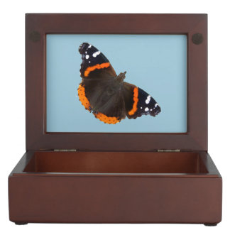 Red Admiral butterfly design jewelry box
