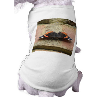 Red Admiral Butterfly Dog T Shirt