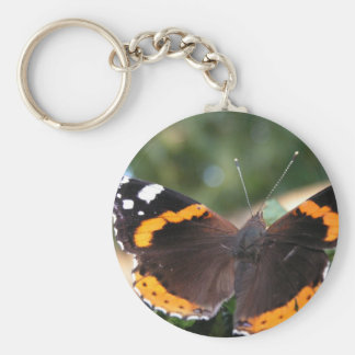 Red Admiral Butterfly Keychain