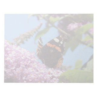 Red Admiral Butterfly On Buddleia Memo Notepads