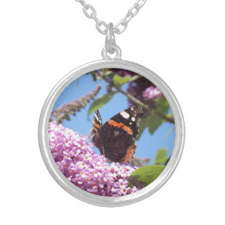 Red Admiral Butterfly on Buddleia Custom Jewelry