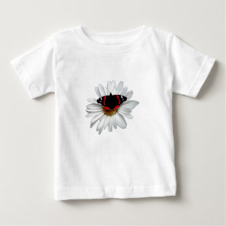 Red Admiral Butterfly on Flower Baby T-Shirt